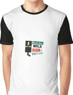 Mass Avenue Walk Sign Graphic T-Shirt