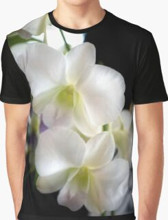 White Orchids with a Blush Graphic T-Shirt