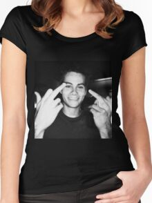 dylan o brien  Women's Fitted Scoop T-Shirt