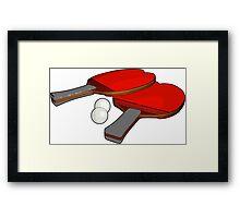 Valentine's ping pong paddles Framed Print