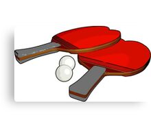 Valentine's ping pong paddles Canvas Print