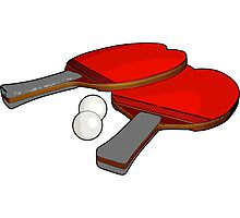 Valentine's ping pong paddles Photographic Print