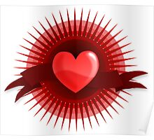 Love-Heart Banner Icon Poster
