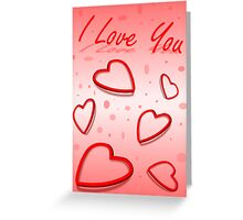 """I Love You"" Hearts Greeting Card"