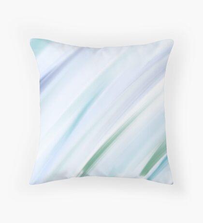 Blue Brushstrokes  Throw Pillow