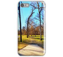 Roadside Shot Through the Trees iPhone Case/Skin