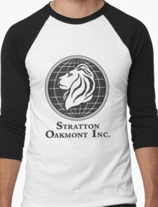 Stratton Oakmont T-Shirt Wolf of Wall Street Tshirt Jordan Belfort Ludes T Shirt Movie Cult Gift Martin Scorsese Him Her Logo Stock Market Men's Baseball ¾ T-Shirt