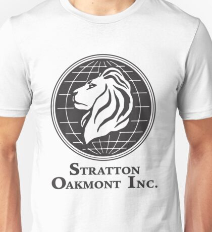 Stratton Oakmont T-Shirt Wolf of Wall Street Tshirt Jordan Belfort Ludes T Shirt Movie Cult Gift Martin Scorsese Him Her Logo Stock Market Unisex T-Shirt