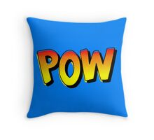 """POW"" Comic Pop-Art Throw Pillow"