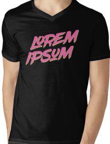 Lorem Ipsum - Neon Mens V-Neck T-Shirt