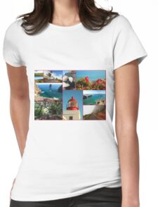 Collage from Portugal (Madeira) 2 - Travel Photography Womens Fitted T-Shirt