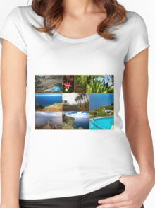 Collage from Portugal (Madeira) - Travel Photography Women's Fitted Scoop T-Shirt