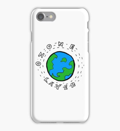 Earth's Ozone Layer Drawing iPhone Case/Skin