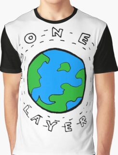 Earth's Ozone Layer Drawing Graphic T-Shirt