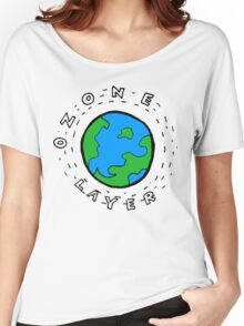 Earth's Ozone Layer Drawing Women's Relaxed Fit T-Shirt