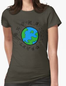 Earth's Ozone Layer Drawing Womens Fitted T-Shirt