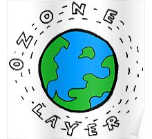 Earth's Ozone Layer Drawing Poster