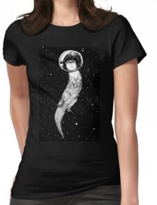 Drifting in Otter Space Womens Fitted T-Shirt