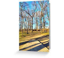 Shaded Tee Pad Looking Through the Woods Greeting Card