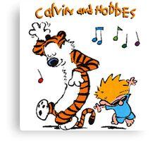 Calvin & Hobbes Dance Canvas Print