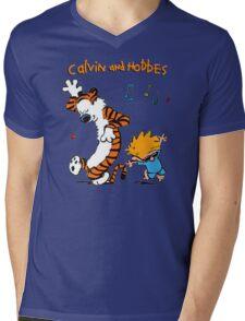 Calvin & Hobbes Dance Mens V-Neck T-Shirt