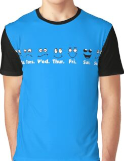 Monday, Tuesday, Wednesday, Thursday, Friday, Saturday, Sunday Moods (Faces/Emotions) Graphic T-Shirt