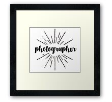 Photographer Starburst Design Framed Print