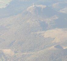 Puy de Dôme, from plane Sticker