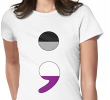Ace Semicolon Womens Fitted T-Shirt