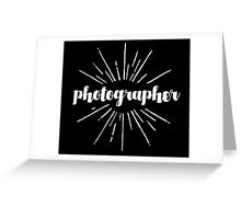 Photographer White Graphic Greeting Card