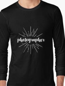 Photographer White Graphic Long Sleeve T-Shirt