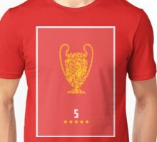 Liverpool FC FIve Times Unisex T-Shirt