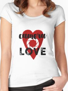 Camera Love Women's Fitted Scoop T-Shirt