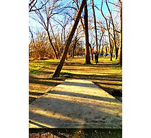 Disc Golfers Ready to Play Photographic Print