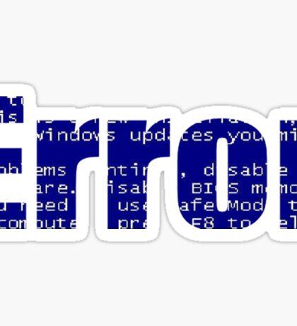 Computer ERROR (Blue Screen) Sticker