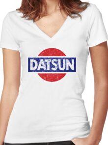 Datson - retro Women's Fitted V-Neck T-Shirt