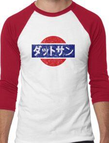 Datsun - retro, Japanese Men's Baseball ¾ T-Shirt