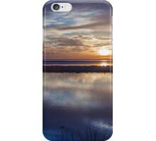 Romantic blue morning sunrise iPhone Case/Skin
