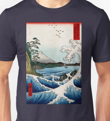 Utagawa Hiroshige The Sea at Satta in Suruga Province Unisex T-Shirt