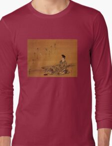 'The Poet' by Katsushika Hokusai (Reproduction) Long Sleeve T-Shirt