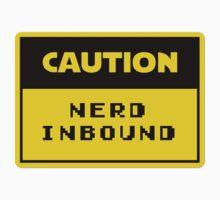 Caution Nerd Inbound Kids Tee