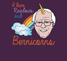 I Love Rainbows and Bernicorns Womens Fitted T-Shirt