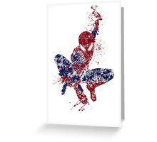 Spider-Man Splatter Art Color Greeting Card