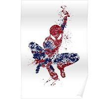 Spider-Man Splatter Art Color Poster