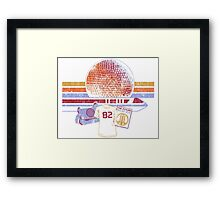 Spaceship Earth and Monorail Vintage T-Shirt Framed Print