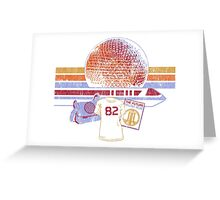Spaceship Earth and Monorail Vintage T-Shirt Greeting Card