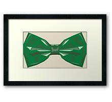 Vector Bow Tie  Framed Print