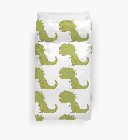 Small Arm T-Rex Drawing Duvet Cover