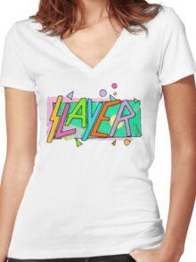 Beach Slayer! Women's Fitted V-Neck T-Shirt