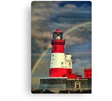 Rainbow Shining Through Lighthouse ~ Farne Islands Canvas Print